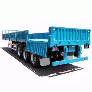 Three Axles Transport Container Detachable Side Wall Semi Trailer