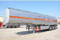 Oil Tanker Semi trailer 35000Liters 3 Axle 5 Compartment Fuel Transport Tanker