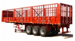 High Quality Tri Axles Livestock Fence Cargo Semi Trailer For Sale