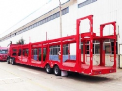 2 Axles Car Carrier Transport Truck Trailer for Sale