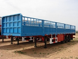 Tri Axles Side Wall Cargo Stake Transport Semi Trailer