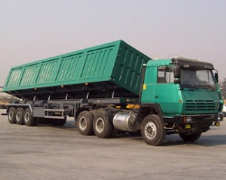 Side Dump Semi trailer 50Ton