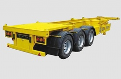Factory Price 40ft 3axle container skeleton semi trailer