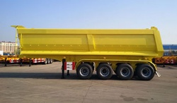 4 axle 45 cubic meters dump trailer