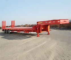 Heavy duty equipment Excavator carrying trailer 50 ton lowbed semi trailer