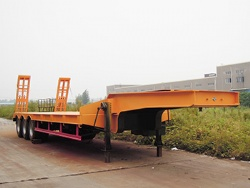 Heavy Duty 50t Low Platform Lowbed Semi Trailer for Sale
