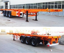 china heavy truck 3 axle container chassis semi trailer for sale