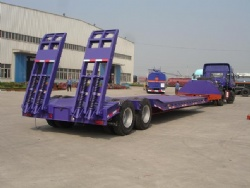 Excavator, bulldozer transport machine 2 axle 30 tons low bed trailer